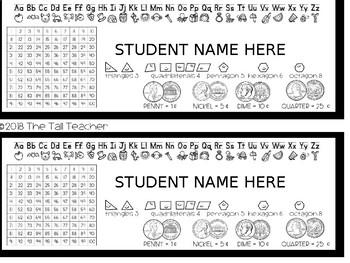 Editable Student Desk Tags