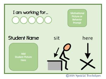 Back to School Editable Desk Visuals