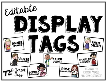 Editable Student Display Tags