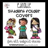 Editable Student Folder Covers
