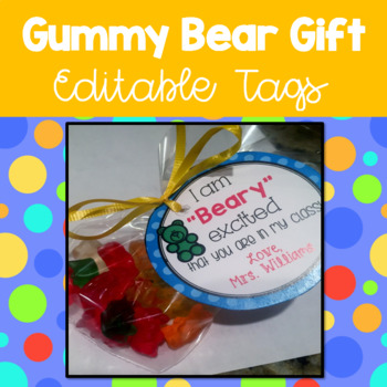 Back to School Gift Tag (editable)