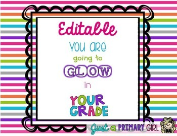 Editable Student Gift Tags