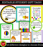 12 Editable Student Gift Tags (Beginning of the year/Back to school) US & UK