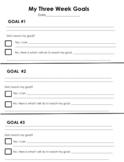 Editable Student Goal Sheet
