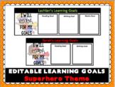 Editable Student Goals Template- Superhero Theme