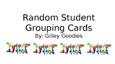 Editable Student Grouping Cards