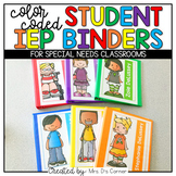 Editable Student IEP Binders { Color Coded }