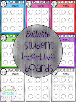 Editable Student Incentive Boards
