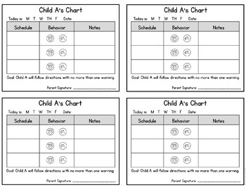Editable Student Individual Behavior Chart by Simply ...