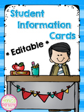 Student Information Sheets {Editable}