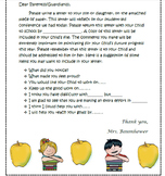 Editable Student-Led Conference Letter & Reflections to parents