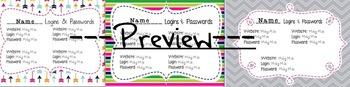 Editable Student Logins & Passwords