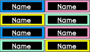 Editable Student Name Cards
