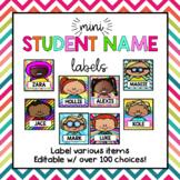 Mini Editable Student Nametag Labels {Back to School Organ