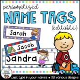 Name Labels {Editable Locker Tub Labels and Name Tags}