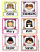 Editable Student Name Labels for Target Square Pocket Labels