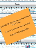 Editable Student Name Tag Helper - CUPS, Number Line, Dyslexic