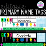 Editable Desk Name Tags-Math/Primary