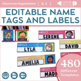 Editable Student Name Tags and Labels   Mini Student Name Tags