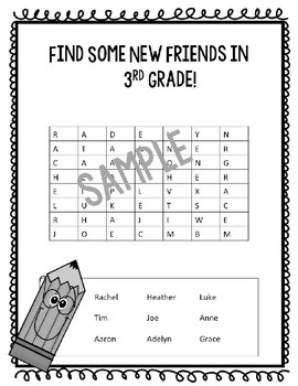 Editable Student Name Word Search