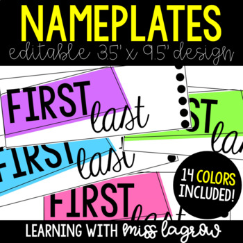 Editable Student Nametags / Nameplates - Fits Target Pockets