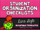 Editable Organization Checklists
