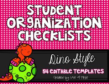 Editable Organization Checklists