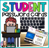 Editable Student Password Cards