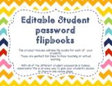Editable Student Password Flipbook