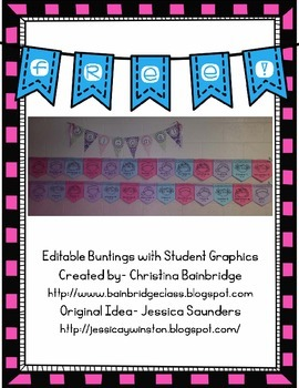 Editable Student Pennants for Back to School {Freebie!}