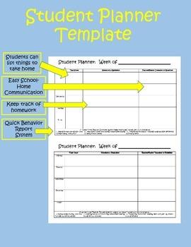 Homework Planner & Behavior Report for School-Home Communication