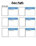 Editable Student Profile Sheet