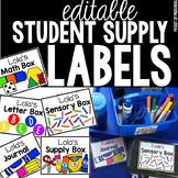 Editable Student Supply Bin Lables