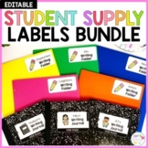 Editable Student Supply Labels BUNDLE