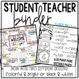 Student Teacher Binder EDITABLE