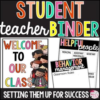 Student Teacher Binder: Editable