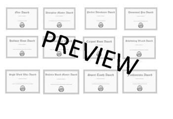 Editable Student, Teacher, Staff Awards Silver Edition Bundle