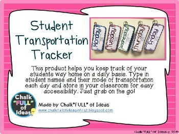 Editable Student Transportation Tracker