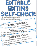 Editable Student Writing Self-Check