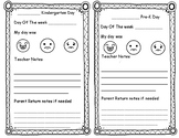 Editable Student home communication How Was My Day
