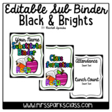 Editable Sub Binder: Black & Brights Version