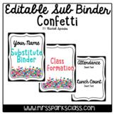 Editable Sub Binder: Confetti Version