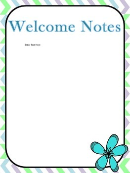 Editable Sub Binder- Flower