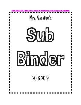 Editable Sub Binder-Google Docs