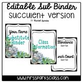 Editable Sub Binder: Succulent Version