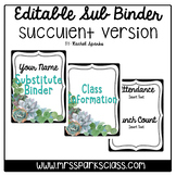 Editable Sub Binder: Succulent Version