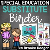 Substitute Binder: Special Education Teacher Sub Binder {Editable}