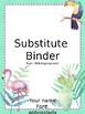 Editable Sub Binder- for your sub tub or binder!