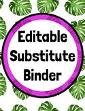 Editable Sub Binder on Google Slides! BUNDLE