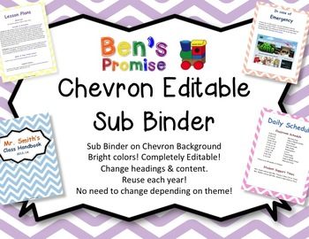 Editable Sub Binder with Chevron Background